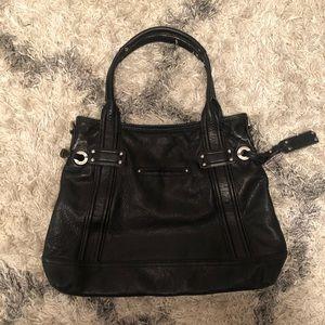 B.Makowsky black leather purse